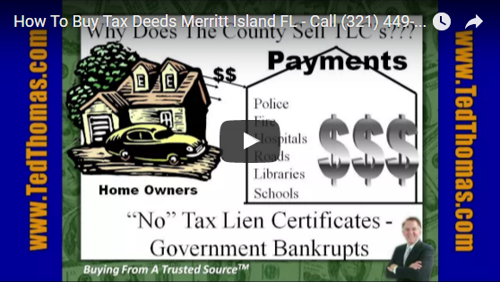 How to buy tax deeds video by Ted Thomas